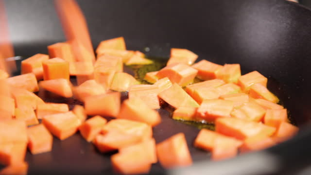 frying sweet potatoes - sweet potato stock videos & royalty-free footage
