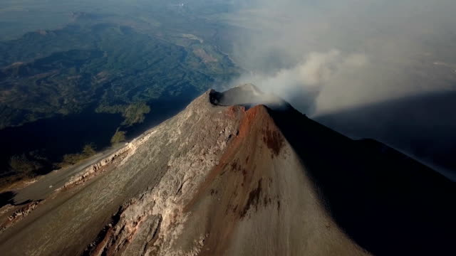 fuego by drone - guatemala stock videos & royalty-free footage