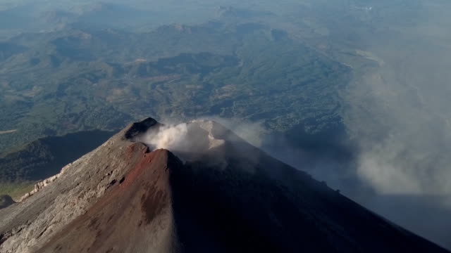 fuego by drone - volcano stock videos & royalty-free footage
