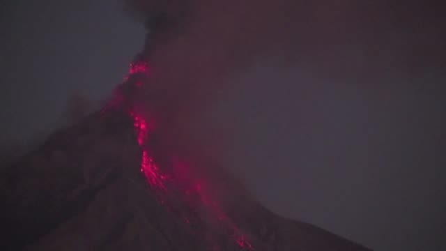 fuego volcano located just 50 kilometers from guatemala city is in a powerful eruptive phase and according to official sources the volcanos ashes... - guatemala stock videos & royalty-free footage