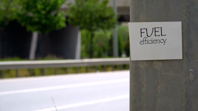 fuel efficiency sign - sticker stock videos and b-roll footage