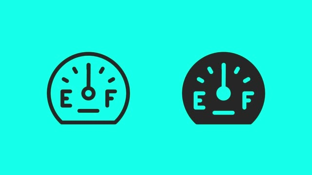 fuel gauge icons - vector animate - full stock videos & royalty-free footage