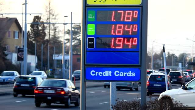 vídeos y material grabado en eventos de stock de combustible cambios de precio - símbolo
