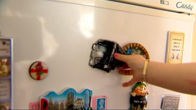 fuel tanker drivers' threatened strike: queues at petrol stations; lorry fridge magnet put on fridge door - magnet stock videos & royalty-free footage