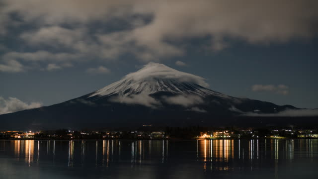 Fuji mountain at night, Time Lapse