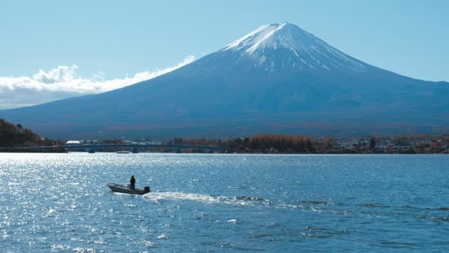 河口湖から富士山, 日本 - 山梨県点の映像素材/bロール