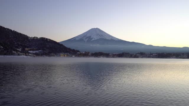 Fujisan sunset at kawaguchiko lake Yamanashi Japan
