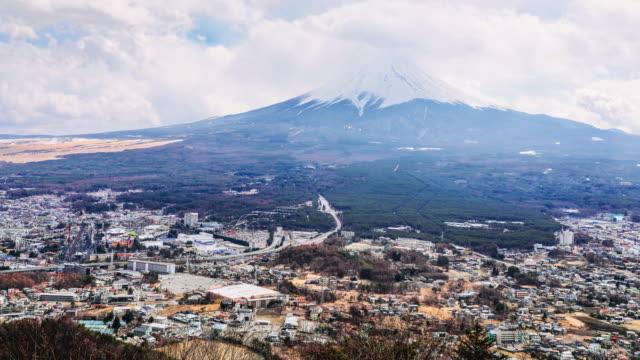富士山と河口湖空撮 - 丘点の映像素材/bロール