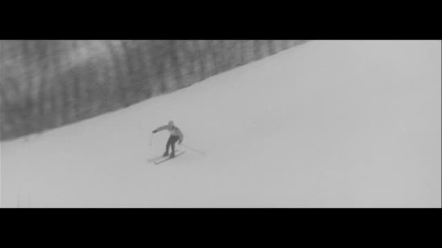 fukuhara shines all japan alpen/downward slope at all japan alpen ski championship competitors stumble yoshiharu fukuhara skis mokuda spinning ohira... - sports championship stock videos & royalty-free footage