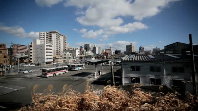 Fukuoka cidade vista de comboio