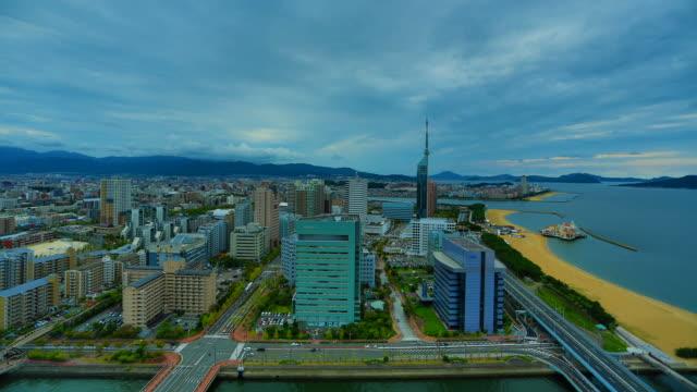 vídeos de stock, filmes e b-roll de fukuoka, japão - prefeitura de fukuoka