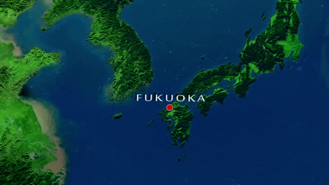fukuoka zoom in - fukuoka prefecture stock videos & royalty-free footage