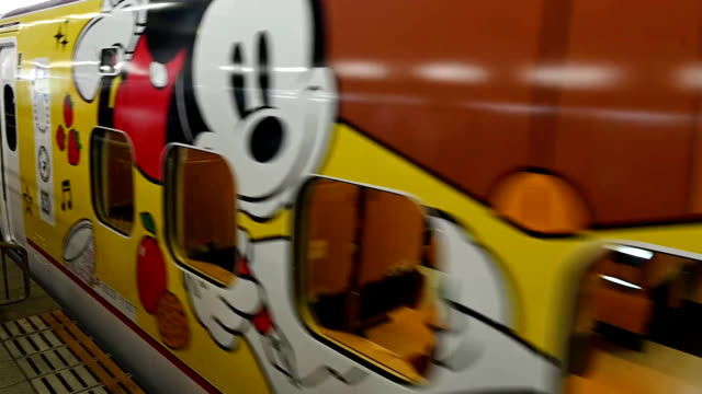 fukuokanot only is mickey mouse the world's most famous mouse he's now the fastest as well even at age 90 a bullet train themed on the beloved walt... - kyushu shinkansen stock videos & royalty-free footage