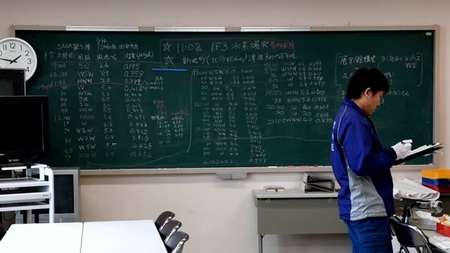 okuma fukushima prefectureas if frozen in time unerased chalkboards still carry the scribblings of emergency officials closely monitoring the... - 本部点の映像素材/bロール