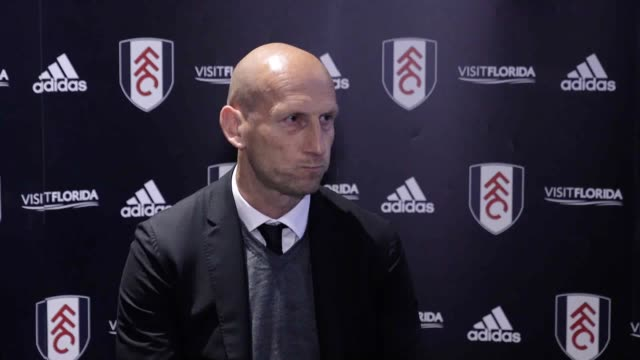 press conference with reading manager jaap stam following his team's draw in the first leg of their championship play-off semi-final. - semifinal round stock videos & royalty-free footage