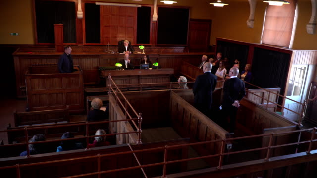 4k: full courtroom for legal court case - court hearing stock videos and b-roll footage