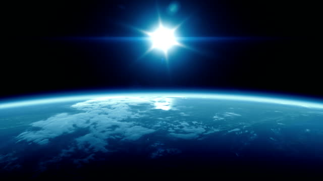 full earth and sunrise from space - atmospheric mood stock videos & royalty-free footage