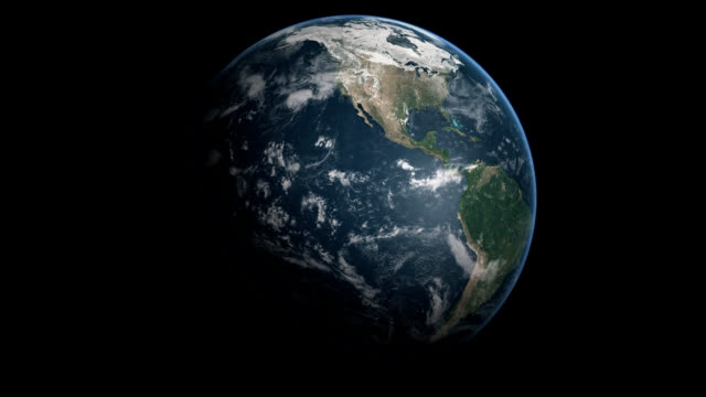 Full Earth North and South America Pacific Ocean 4of8