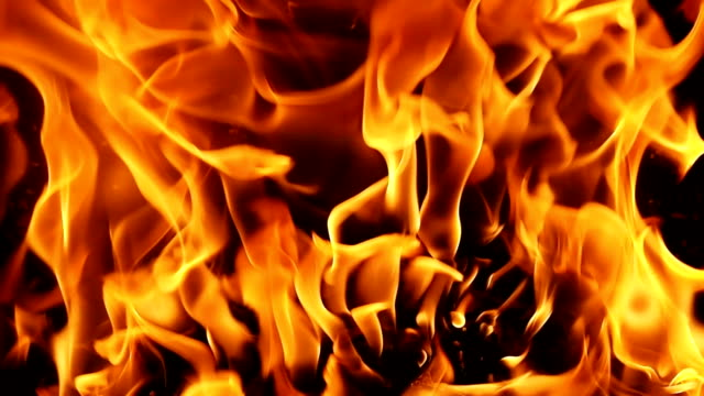 HD-Vollformat Flammen brennen