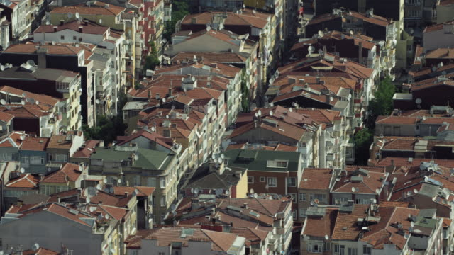 Full Frame Of City Rooftops In Istanbul