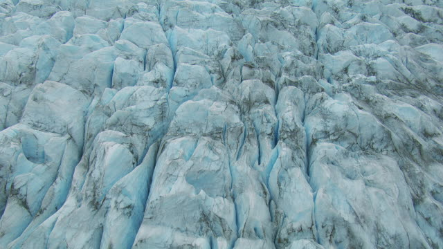 full frame shot of glacier surface - crevasse stock videos & royalty-free footage