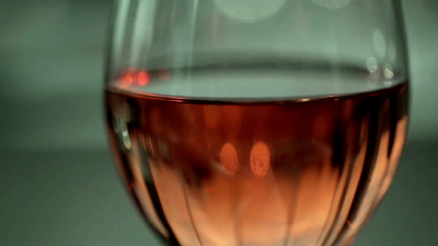 full glass of rose wine - rose wine stock videos and b-roll footage