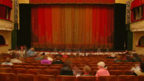 full house is in a theatre (timelapse) - theatre building stock videos & royalty-free footage