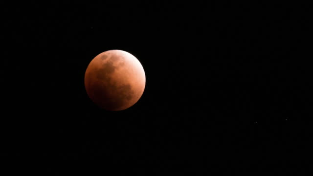 Full lunar eclipse , Blood Moon Time Lapse , Full moon