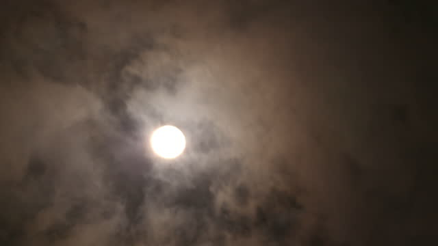 full moon and clouds in ubud district / bali, indonesia - ubud district stock videos & royalty-free footage