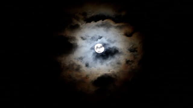 full moon and clouds - full moon stock videos & royalty-free footage