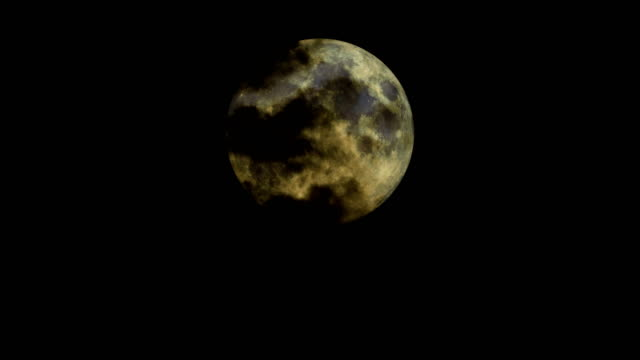 full moon and clouds - film noir style stock videos & royalty-free footage