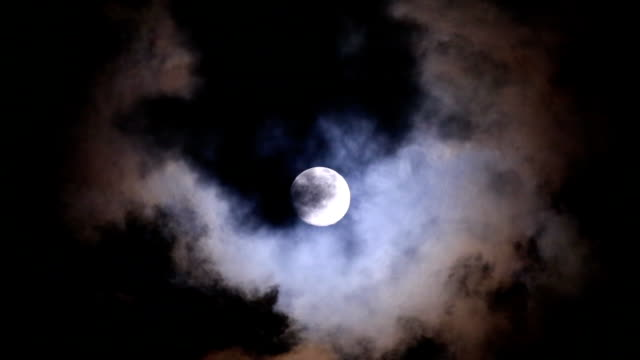 full moon at night with cloud - atmosphere filter stock videos and b-roll footage