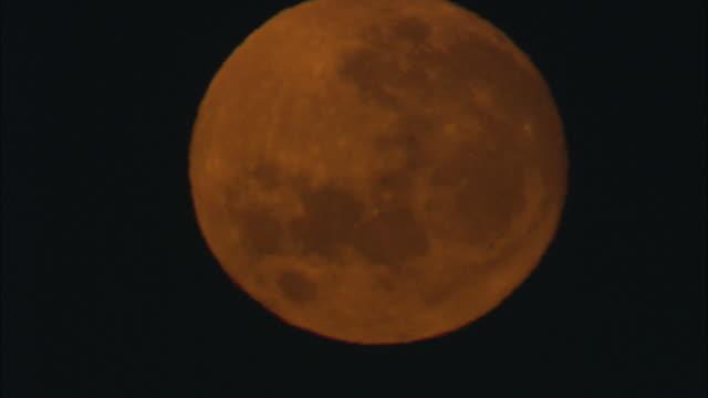 vídeos y material grabado en eventos de stock de a full moon casts an orange glow in a night sky. - provincia occidental del cabo