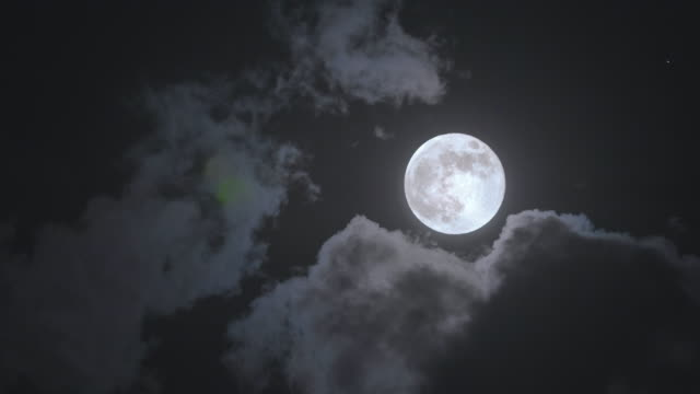 full moon close up - cloud sky stock videos & royalty-free footage