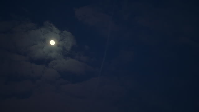 WS Full moon in sky at night / Paris, France