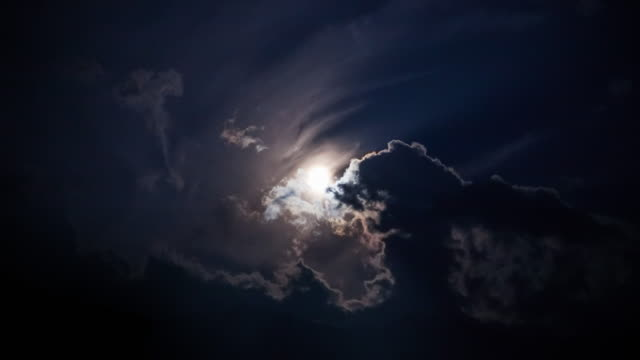 full moon in sky - storm cloud stock videos & royalty-free footage