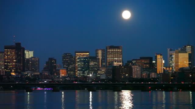 Vollmond über Boston