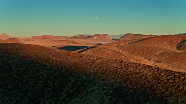 full moon over lunar crater national natural landmark - drone shot - natural landmark stock videos & royalty-free footage
