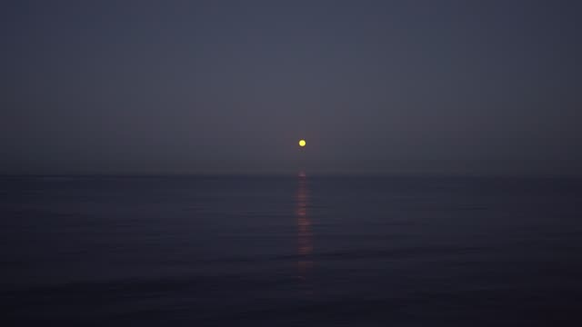 full moon rising over the sea in the dusk, romantic scene - sea robin stock videos & royalty-free footage