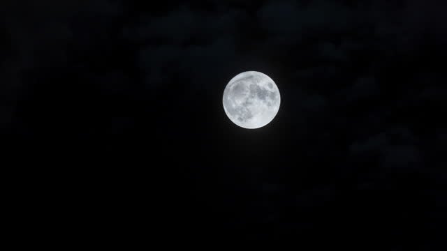 full moon / seoul, south korea - moving up stock videos & royalty-free footage