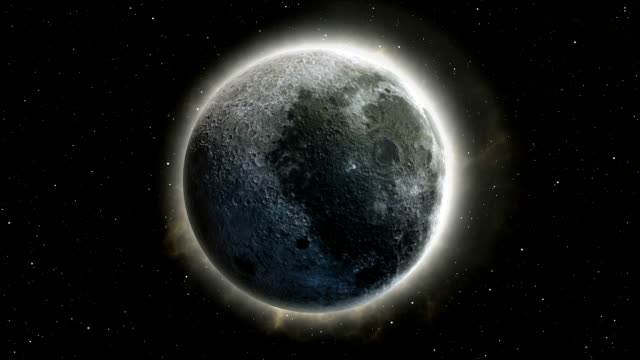 full moon, supermoon in space 3d illustration - supermoon stock videos & royalty-free footage