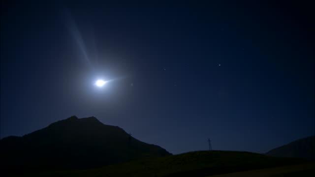 Full moon timelapse on a clear sky