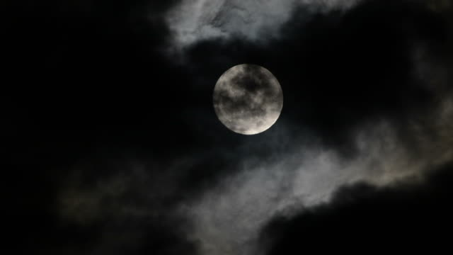 full moon - half moon stock videos & royalty-free footage