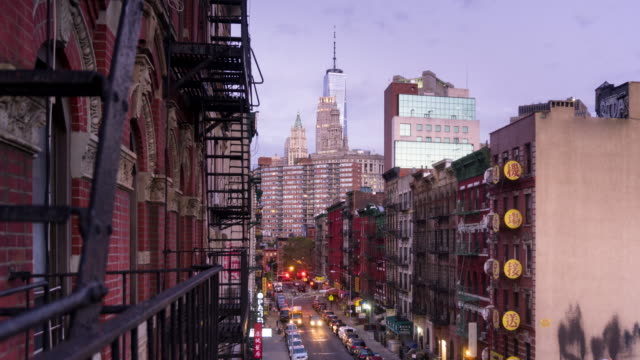 Full Night to Day Time Lapse of New York City Chinatown