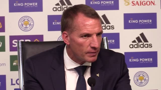 full press conference with leicester manager brendan rodgers after 2-1 win over tottenham. james maddison's late winner earned leicester a pulsating... - pulsating stock videos & royalty-free footage