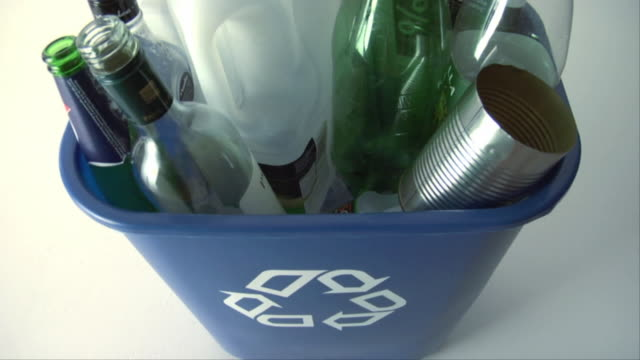 cu, ha, full recycling bin - medium group of objects stock videos & royalty-free footage