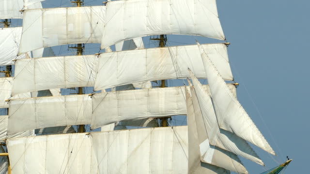 full sail of an old ship - mast sailing stock videos & royalty-free footage