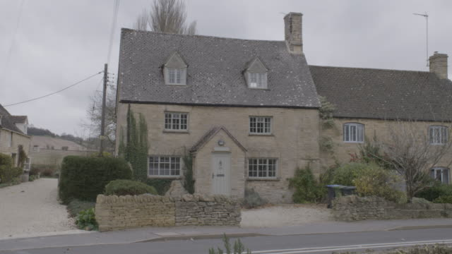 full shot of a british home in long compton - village stock videos & royalty-free footage