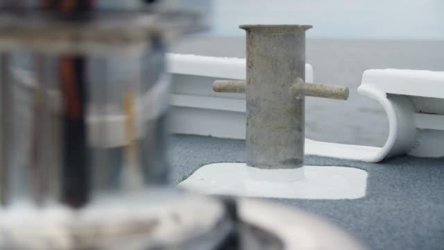 A full shot of a dock anchor