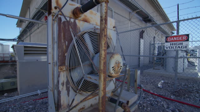 full shot of a ventilator at nevada test site - high voltage stock videos & royalty-free footage